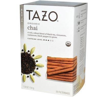 Tazo Teas, органический черный чай, 20 фильтр-пакетиков, 54 г