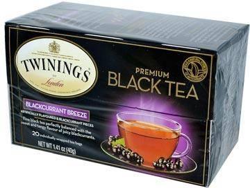 Twinings, премиум, чай черный черная смородина 20 чайных пакетиков, 40 г