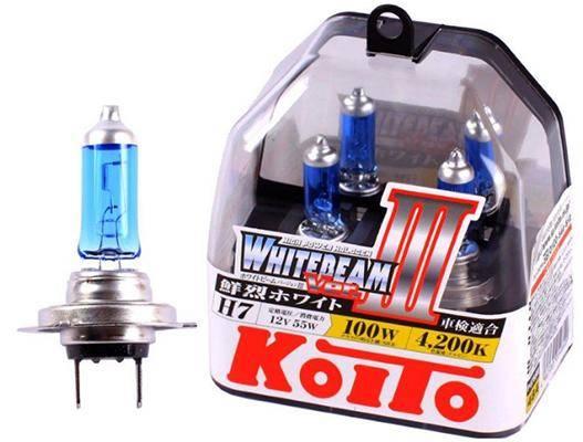 Koito H7 Whitebeam 4200K 12V 55W, 2 шт., P0755W