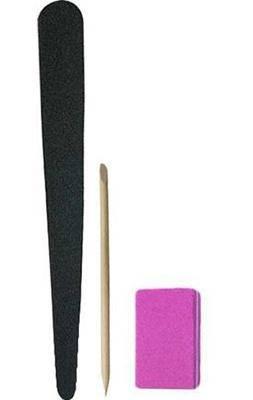 Одноразовый набор для маникюра 10 шт. пилка, Баф, апельсиновая палочка