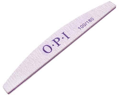 Пилка для искусственных ногтей, полукруглая, 100/180. OPI