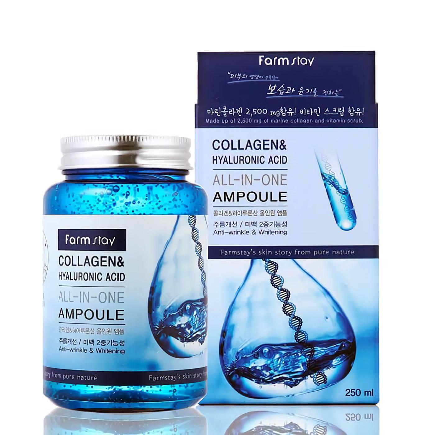 FarmStay All-In-One Collagen & Hyaluronic Acid Ampoule