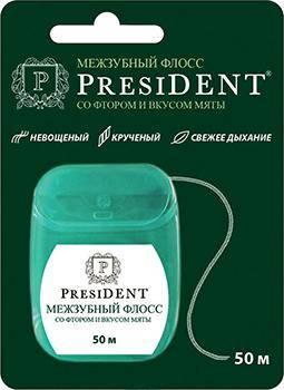 President невощеный мятный с фтором
