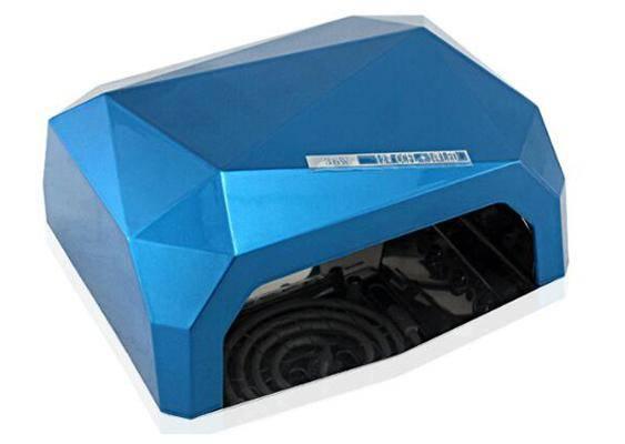 Гибридная CCFL (UV) + Led лампа 36W, синяя