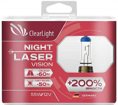 H4 Night Laser Vision +200%, 2 шт.
