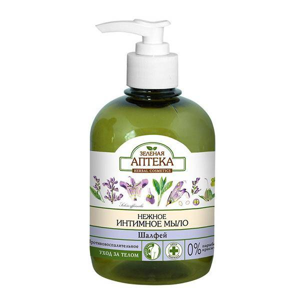 Зеленая аптека «Нежное интимное мыло Шалфей»