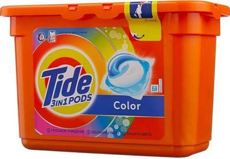 Tide 3 in 1 Pods Color