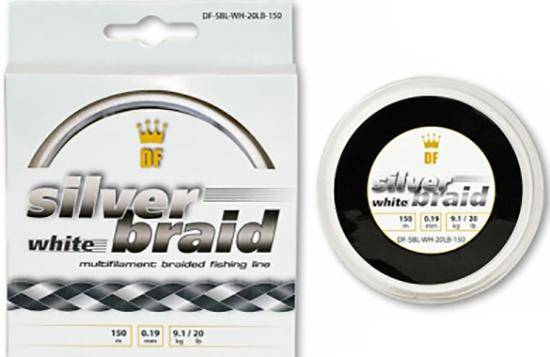 DreamFish Silver Braid White 150 м 0.38 мм 20.5кг
