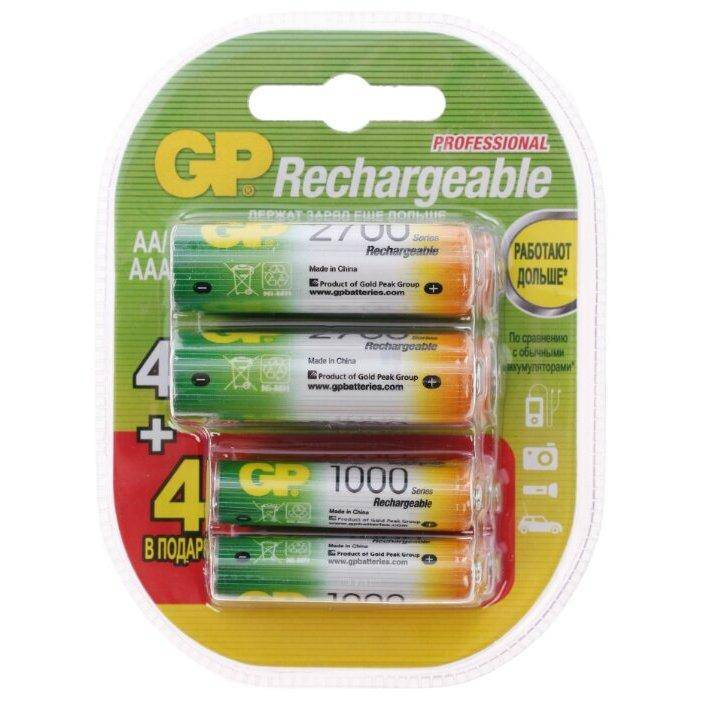 GP Rechargeable 2700 Series AA