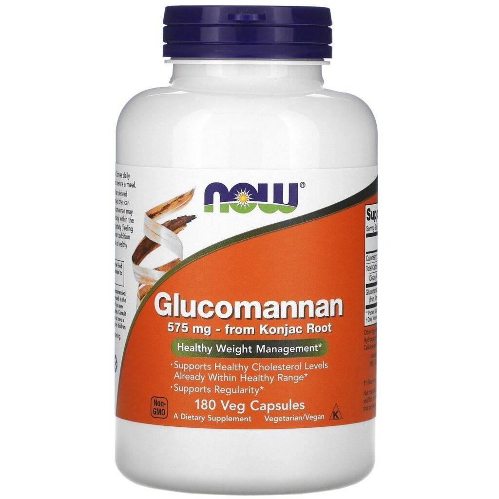 Now Foods, глюкоманнан