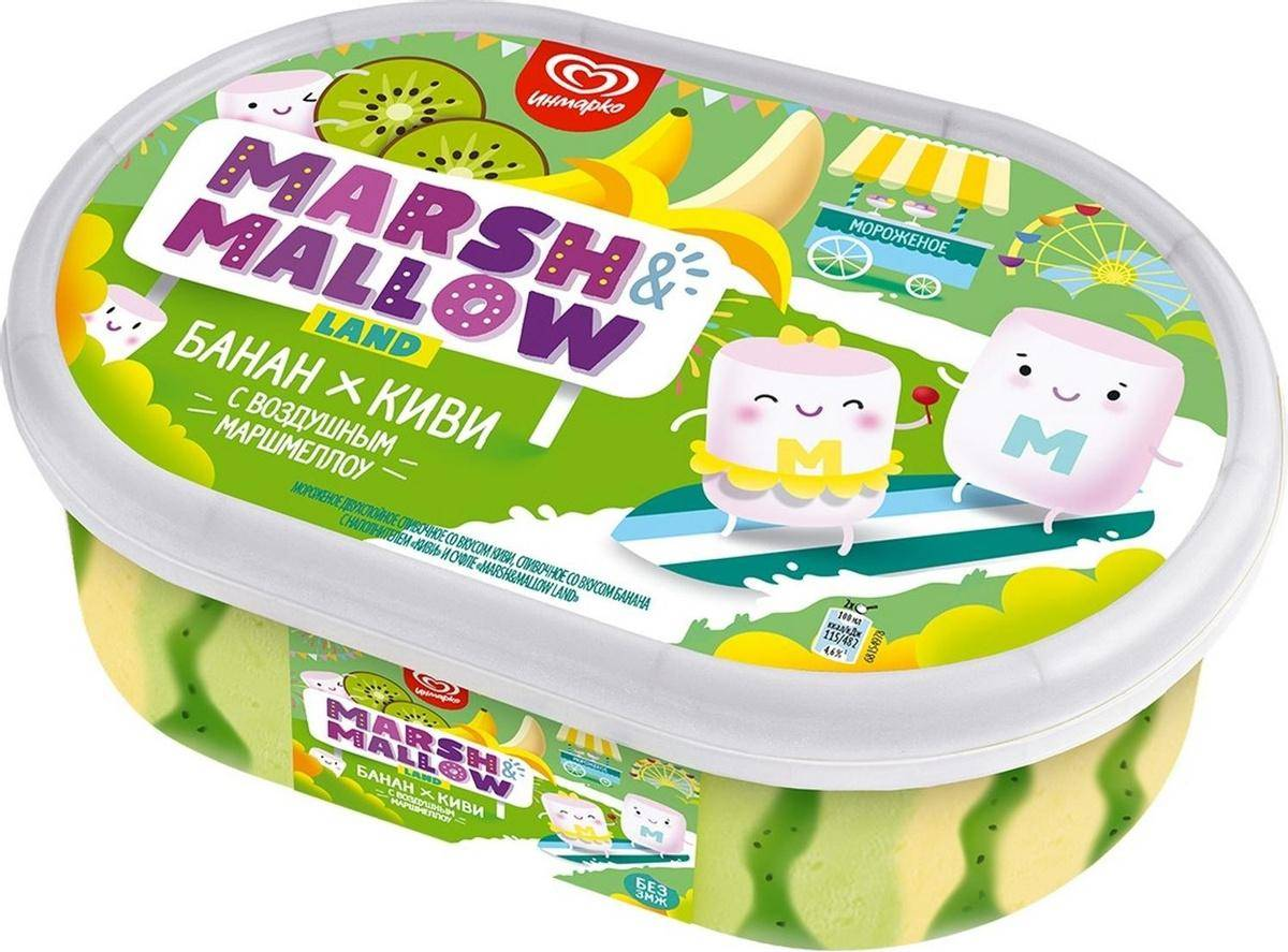 Инмарко пломбир Marshmallow Банан-киви