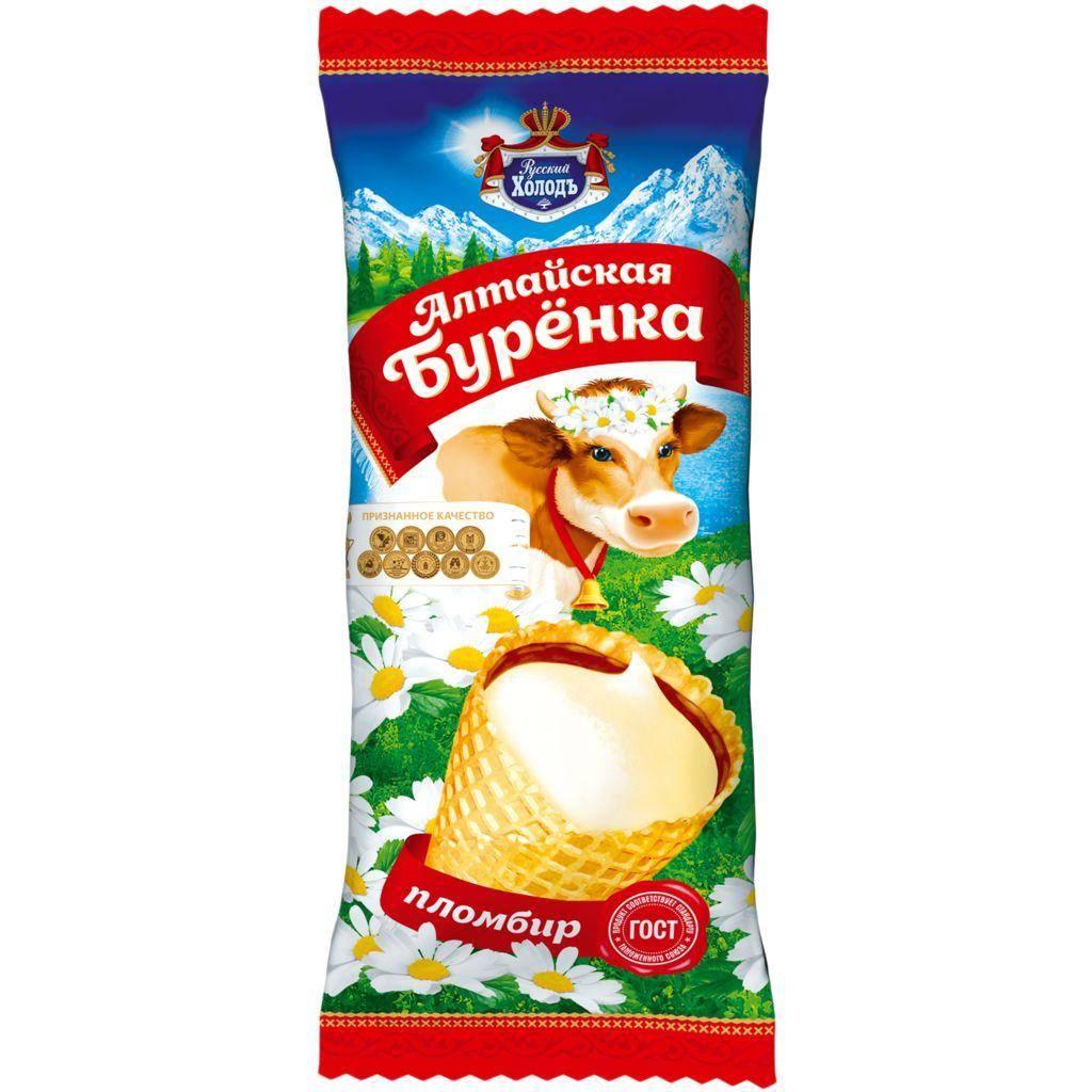 Русский Холодъ Русская Буренка шоколадный пломбир
