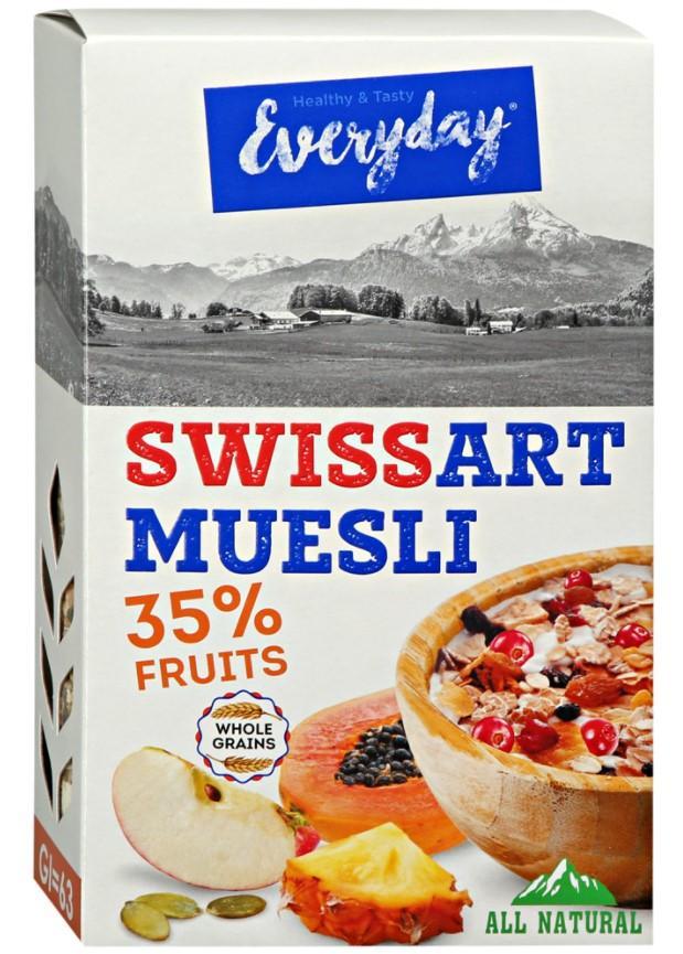 Everyday хлопья Swiss Art с фруктами