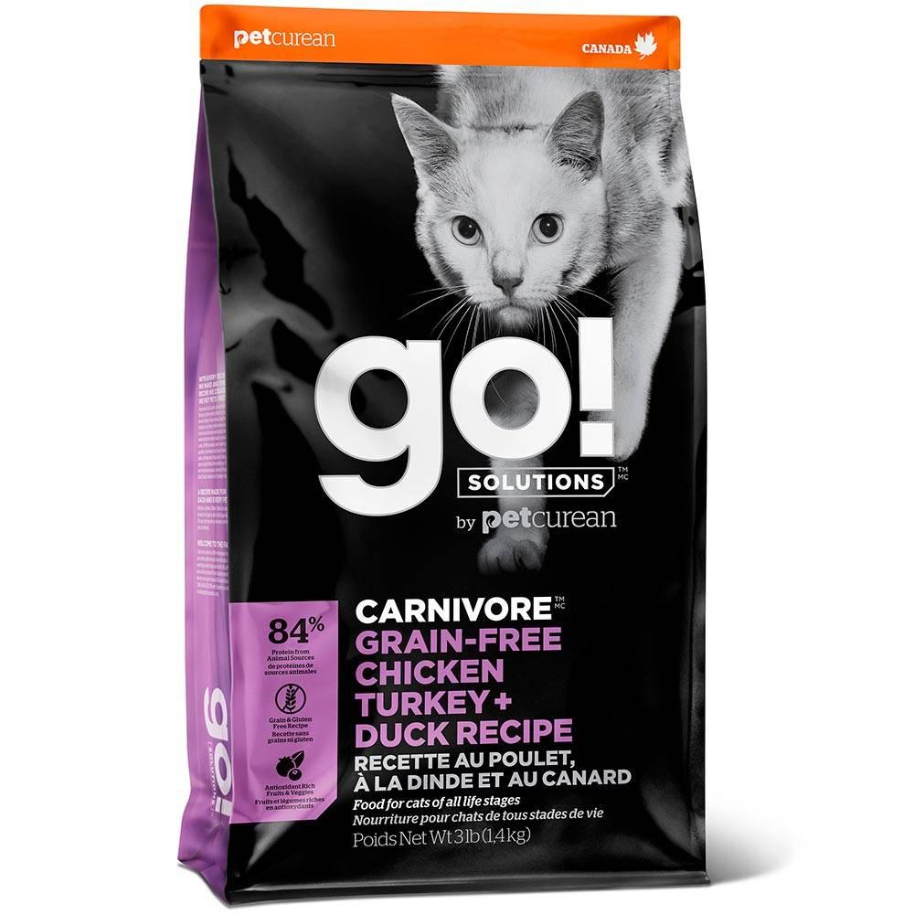 GO! Carnivore, беззерновой, с курицей, с индейкой, с уткой