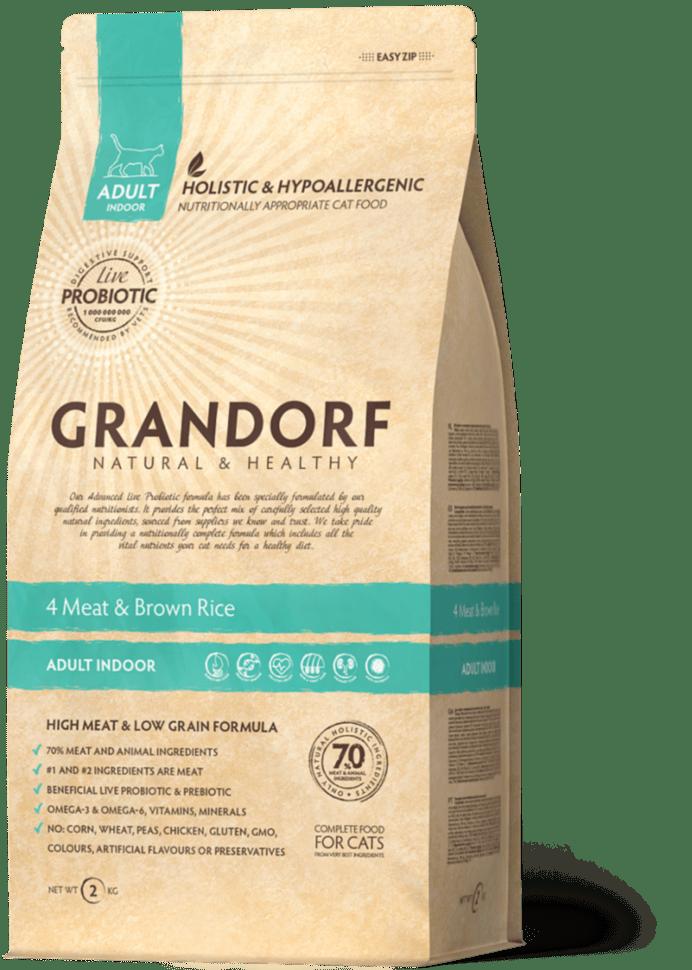 Grandorf гипоаллергенный, 4 мяса с бурым рисом
