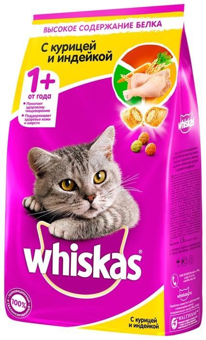 Whiskas с курицей, с индейкой